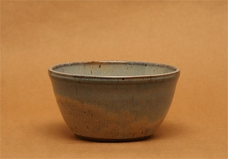 Calico and Blue Cereal Bowl