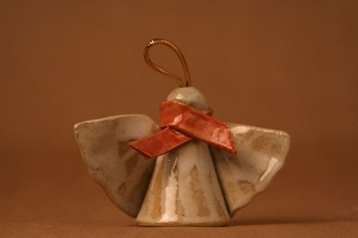 Red Scarf Angel Ornament